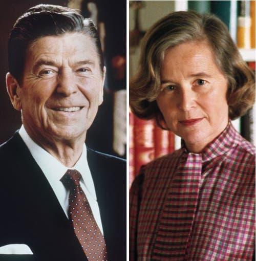 Präsident Ronald Reagan traf Elisabeth Kopp 1987. (Bild: KEY)
