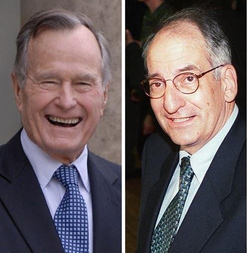 George Bush Sr. traf Bundesrat Jean-Pascal Delamuraz 1990. (Bild: KEY)