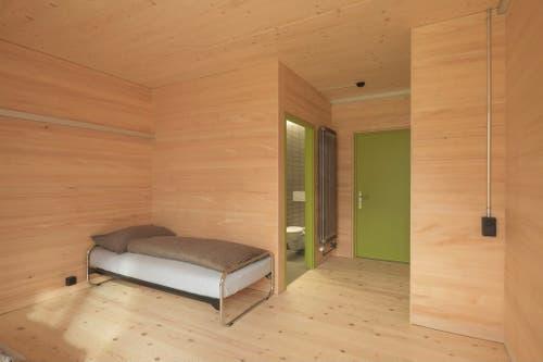 Ein Zimmer im Internat.