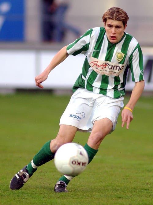 Lustenberger im Spiel gegen den FC Luzern in der Challenge League. (Bild: Michael Buholzer, 5. April 2005)