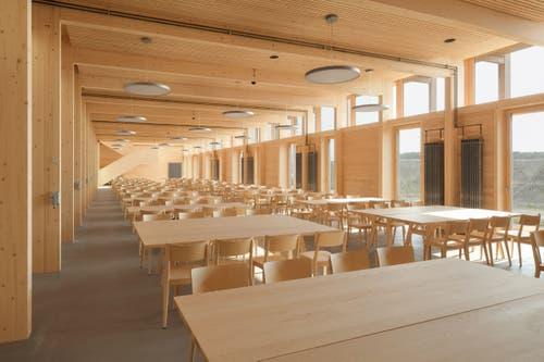 Die Mensa im neuen Landwirtschaftlichen Zentrum. (Bilder: PD)