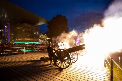 Auch der Artillerieverein Luzern war mit dabei. (Bild: Philipp Schmidli, Luzern, 18. Mai 2019)