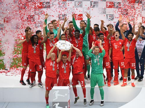 Bayern München feierte seinen 29. Meistertitel, den 7. in Serie (Bild: Keystone/dpa/Sven Hoppe)