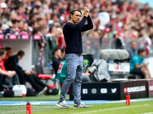 Niko Kovac stand in seiner ersten Saison bei Bayern München phasenweise stark in der Kritik (Bild: Keystone/AP/Matthias Schrader)