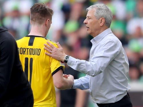 Borussia Dortmund spielte unter Lucien Favre eine starke Saison, am Ende reichte es aber für Marco Reus und seine Kollegen nicht zum Titel (Bild: Keystone/EPA/FRIEDEMANN VOGEL)