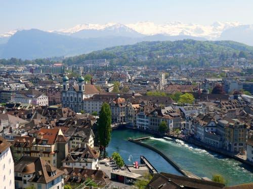 Blick vom Männliturm. (Bild: Walter Buholzer, Luzern, 1. Mai 2019)