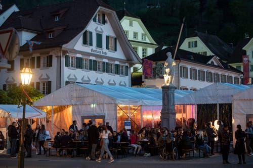 Blick auf das Festgelände in Stans. (Bild: Urs Flüeler / Keystone, Stans, 1. Mai 2019)