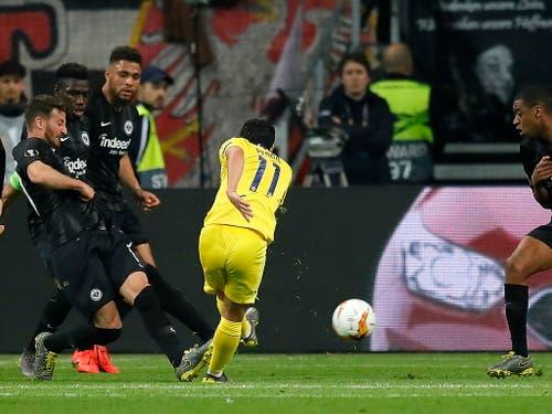 In der 45. Minute schiesst Pedro zum Ausgleich ein für Chelsea (Bild: KEYSTONE/EPA/RONALD WITTEK)