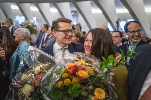Beni Würth mit seiner Ehefrau Susanne. (Bild: Michel Canonica)
