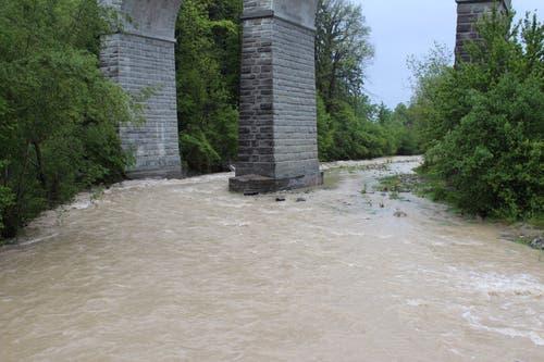 Viel Wasser auch in der Goldach. (FM1Today/Marc Hanimann)