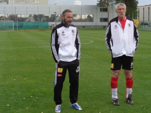 Werner Kühne und Christoph Baumgartner vom FC Stadtparlament.