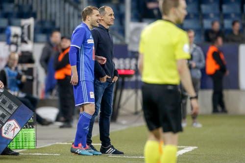 Wird von Trainer Thomas Häberli in der 87. Minute eingewechselt: Claudio Lustenberger. (Bild: Marc Schumacher / Freshfocus, Luzern, 22. Mai 2019)