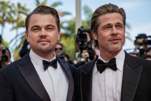 Die Schauspieler Leonardo DiCaprio (links) und Brad Pitt während dem 72. Filmfestival in Cannes. > Filmpremiere «Once Upon A Time ... In Hollywood» (Bild: Vianney Le Caer/Invision/AP)