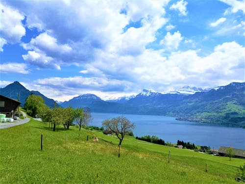 Herrliche Aussicht auf den Vierwaldstättersee und die Berge. (Bild: Urs Gutfleisch, Ennetbürgen, 14. Mai 2019)