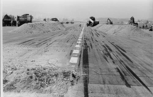 Bau des Militärflugplatz Emmen. (Bild: VBS)