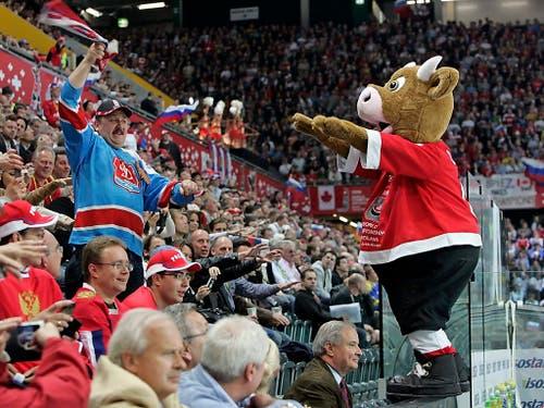 An der Schweizer WM von 2009 in Bern und Kloten gewann Russland den Final gegen Kanada. (Bild: KEYSTONE/PATRICK B. KRAEMER)