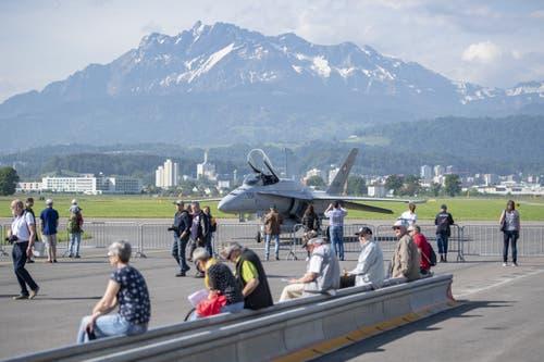 Impressionen vom Tag der Öffentlichkeit des Militärflugplatzes Emmen. (Bild: Urs Flüeler / Keystone, Emmen, 24. Mai 2019)