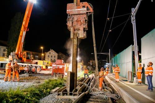 Nachtschicht am Stadtbahnhof (Bilder: Rudolf Hirtl)