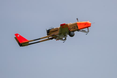 Start der Drohne ADS-95. (Bild: Philipp Schmidli, Emmen, 25. Mai 2019)