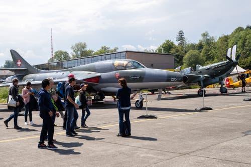 Eine Hawker Hunter. (Bild: Philipp Schmidli, Emmen, 25. Mai 2019)