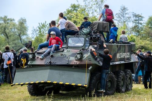 Impressionen vom Tag der Öffentlichkeit des Militärflugplatzes Emmen. (Bild: Philipp Schmidli, Emmen, 25. Mai 2019)
