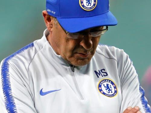 Unter Druck: Chelseas Coach Maurizio Sarri legte sich mit seinen Klubchefs an (Bild: KEYSTONE/AP/DARKO BANDIC)