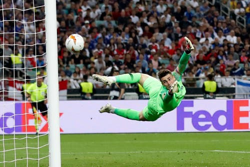 Flugeinlage von Chelsea-Torhüter Kepa Arrizabalaga. (Bild: Darko Bandic / AP)