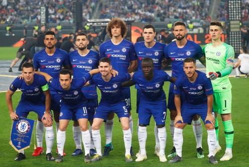 Die Startformation von Chelsea. (Bild: Maxim Shipenkov / EPA)
