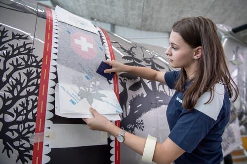 Chiara Christen bei der Arbeit. (Bild: Pius Amrein, Stans, 2. Mai 2019)