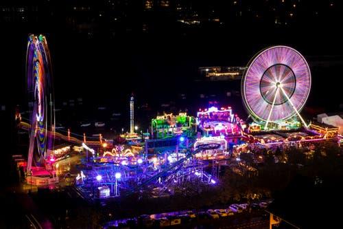 Der Luna Park am Samstagabend. (Bild: Phillipp Schmidli, 27. April 2019)