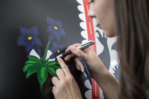 Künstler Waser hat der 17-Jährigen volles Vertrauen geschenkt. (Bild: Pius Amrein, Stans, 2. Mai 2019)