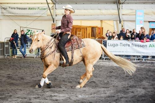 Westernshow mit Eliane Gfeller (Mehrfache Schweizermeisterin und Europameisterin im Westernreiten). (Bild: Jakob Ineichen, 27. April 2019)
