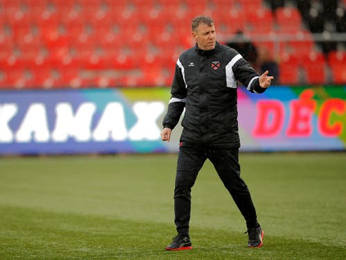 Trotz sportlichem Erfolg nächstes Jahr als Xamax-Coach nicht mehr erwünscht: Stéphane Henchoz (Bild: KEYSTONE/VALENTIN FLAURAUD)
