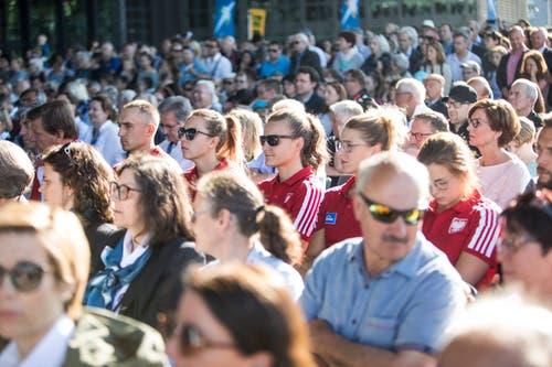 Die Eröffnungsfeier war gut besucht. (Bild: Manuela Jans-Koch/Luzerner Zeitung, Luzern, 30. Mai 2019)