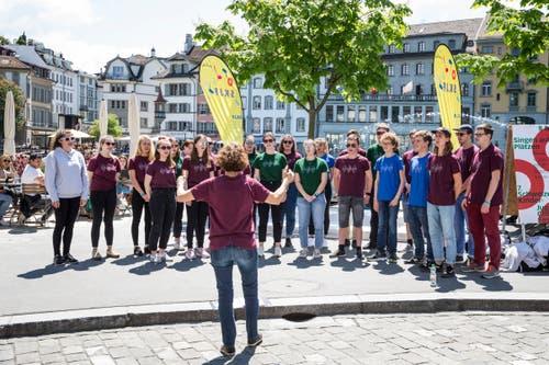 Impressionen vom Schweizer Kinder- und Jugendchor-Festival. (Bild: Manuela Jans-Koch/Luzerner Zeitung, Luzern, 30. Mai 2019)