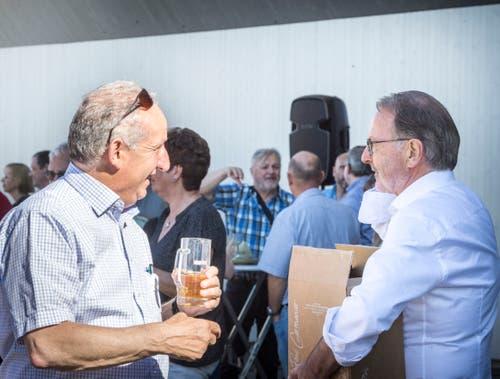 Amriswil TG - Verabschiedung von Stadtpräsident Martin Salvisberg, Feierabendbier mit der Bevölkerung. Hermann Hess.
