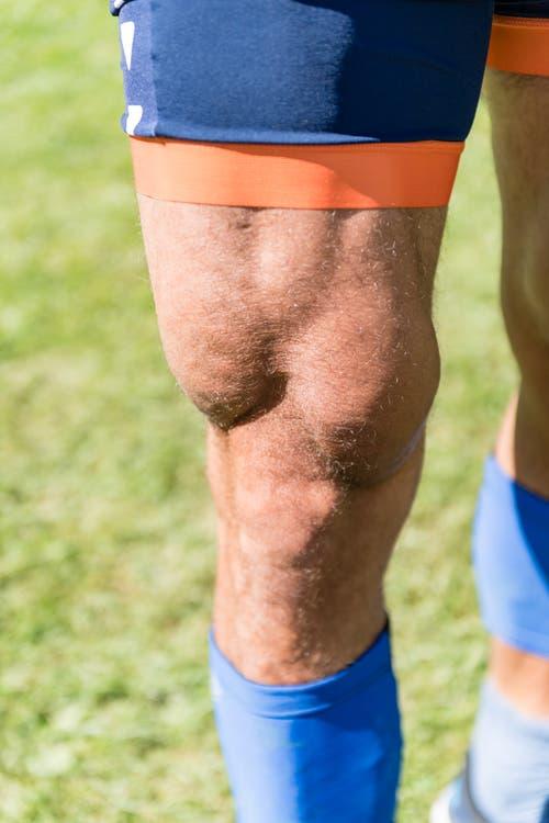 Braucht es hierfür noch viele Worte? Das Bild spricht ja eigentlich für sich: Zum Rudern braucht es Muskeln, wie dieser Oberschenkel eines Ruderers beweist. (Bild: Roger Grütter, Luzern, 31. Mai 2019)