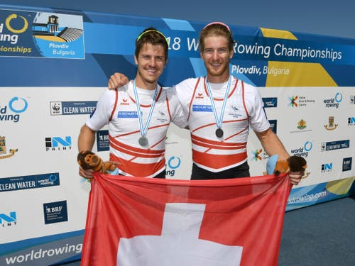 Roman Röösli und Barnabé Delarze gehören im Doppelzweier auch in Luzern zu den Medaillenkandidaten (Bild: KEYSTONE/SWISS ROWING/SWISS ROWING / DETLEV SEYB)