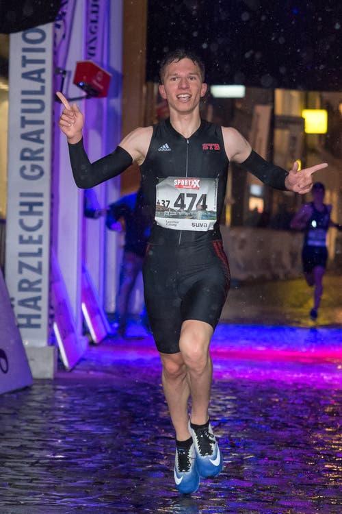 Der Sieger des Männer Nachwuchs-Eliterennens: Maurice Christen. (Bild: Pius Amrein, 4. Mai 2019)