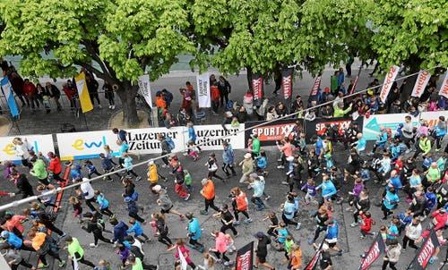 Impressionen vom Stadtlauf Luzern 2019. (Bild: swiss-image/Andy Mettler, 4. Mai 2019)