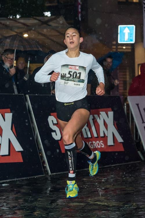 Die Siegerin des Frauen Nachwuchs-Eliterennens: Valentina Rosamilia. (Bild: Pius Amrein, 4. Mai 2019)