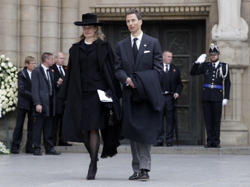 Erbprinz Alois von und zu Liechtenstein mit seiner Frau Erbprinzessin Sophie. (Bild: Keystone/EPA/JULIEN WARNAND)