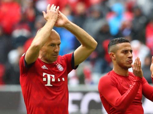 Arjen Robben (links) wurde wie Ribéry bei den Bayern zu einer Kultfigur (Bild: KEYSTONE/AP/MATTHIAS SCHRADER)
