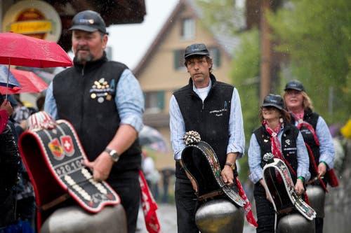 Das kantonale Trychlertreffen in Oberägeri war ein Erfolg. (Bild: Maria Schmid, Oberägeri, 4. Mai 2019)