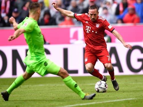 Mit dem Franzosen Franck Ribéry verliert Bayern München am Saisonende einer seiner prägendsten Figuren der letzten Jahre (Bild: KEYSTONE/EPA/LUKAS BARTH-TUTTAS)