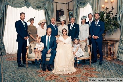 Die Taufe von Prinz Louis wurde im Juli 2018 gefeiert und mit diesem Foto der Öffentlichkeit präsentiert. (Bild Keystone/EPA/MATT HOLYOAK / CAMERA PRESS / HANDOUT, 16. Juli 2018)