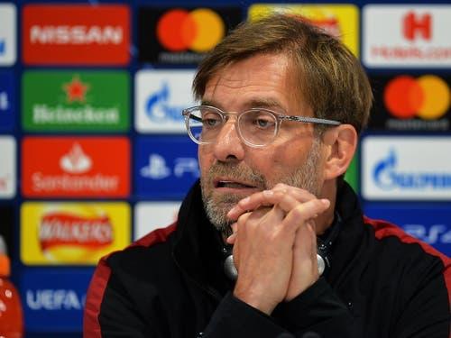 Liverpools Trainer Jürgen Klopp verlangt auch ohne Firminho und Salah ein Offensiv-Spektakel seines Teams (Bild: KEYSTONE/EPA/PETER POWELL)