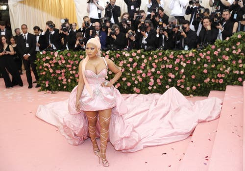 Nicki Minaj an der Met Gala in New York. (Bild: KEYSTONE/EPA/JUSTIN LANE)