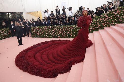 Cardi B an der Met Gala in New York. (Bild: KEYSTONE/EPA/JUSTIN LANE)