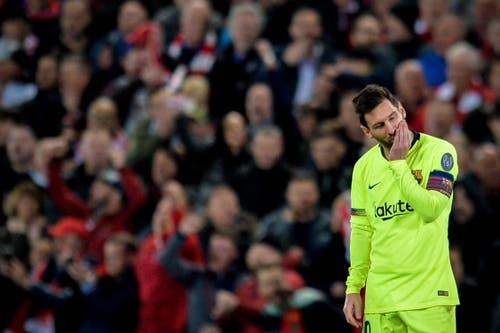 Enttäuschung bei Lionel Messi nach der Partie. (Bild: Peter Powell / EPA)